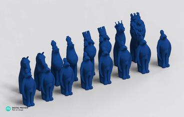 Animal chess figures