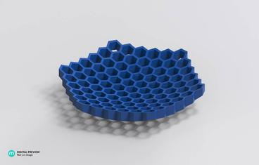 Flat bowl honeycomb