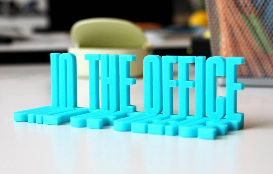 """Out/In the office"" Schild"