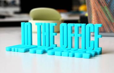 """Out/In the office"" sign"