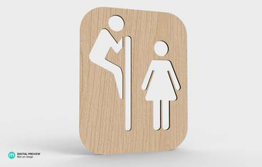Restroom sign - Spy
